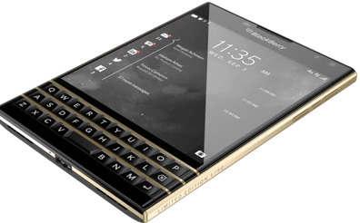 黑莓与新款限量版金色Passport智能手机一起加入了闪亮之旅