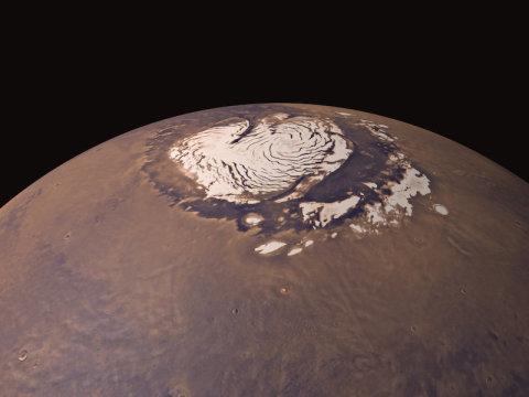 二氧化硅气凝胶可以使火星表面变暖 类似于温室气体保持地球温暖的方式
