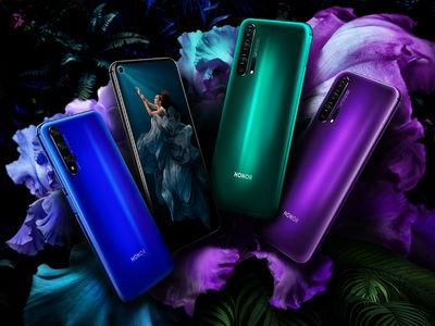 Honor在2019年1月中旬挑逗手机的显示屏上有孔