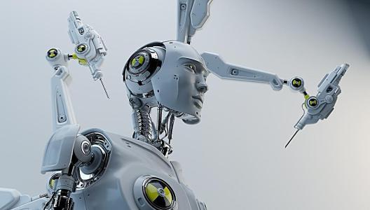 机器人焊接系统组装测井机