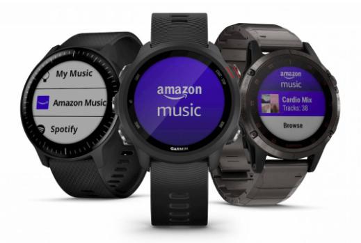 亚马逊音乐应用为Garmin智能手表带来优势