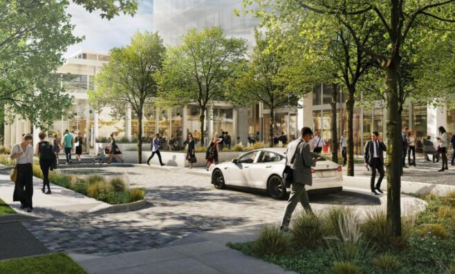 另一个新的高层项目正在达拉斯的住宅区附近进行