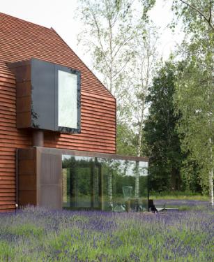 帕斯卡尔弗朗索瓦设计的当代比利时谷仓房屋覆盖着粘土砖