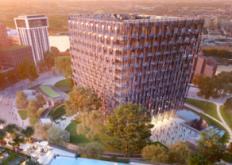 玻璃底游泳池将被吊在伦敦南部上方十层楼高
