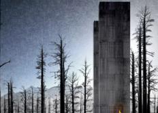 云状营地旨在漂浮在科罗拉多山谷的树木之间
