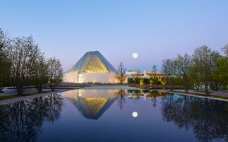 查尔斯科雷亚的结晶伊斯兰中心与多伦多公园的阿迦汗博物馆