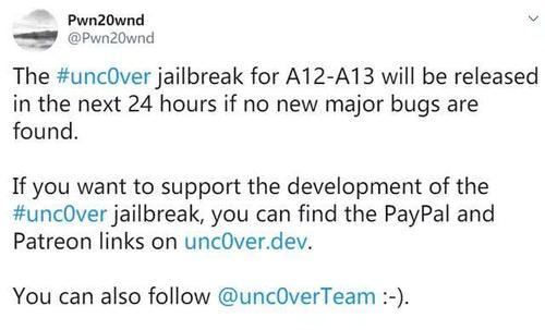 Pwn20wnd建议越狱者避免即将进行的软件更新