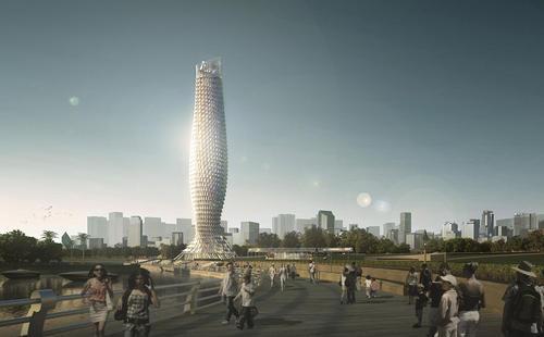 RMJM的斗门观景塔是一座以鱼为灵感的摩天大楼