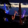 克罗地亚设计师通过照亮造船厂的起重机创造巨大的灯光秀