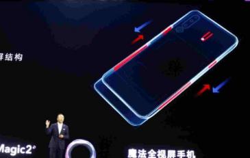 荣耀Magic 2智能手机在中国宣布拥有六台相机