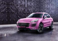 仅限女性的众泰SR9Godess版的内部为粉红色