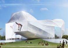 纽约工作室Asymptote为韩国设计了一个多面表演艺术中心