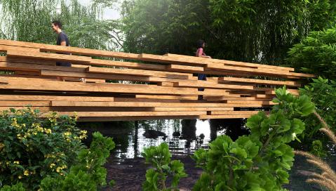 PaulCocksedge将在开普敦河上安装CLT桥梁