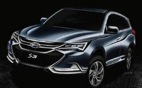 面向中国的新型比亚迪S3SUV的更多照片