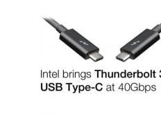 英特尔带来了三款用于计算机的全新Thunderbolt3控制器