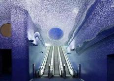克里斯托弗赫维格为苏联时代的地铁站拍照留念