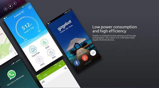 CUBOTJ3是该公司的最新入门级手机价格为59.99美元