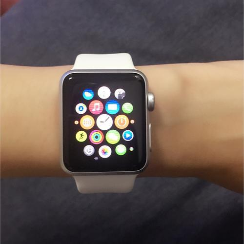 患者在AppleWatch上向医生展示了心电图测试的结果