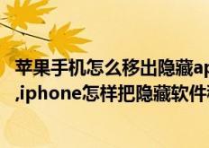 苹果手机怎么移出隐藏app(iphone如何把隐藏软件移出来,iphone怎样把隐藏软件移出来)