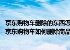 京东购物车删除的东西怎么删除(京东购物车怎样删除商品,京东购物车如何删除商品)